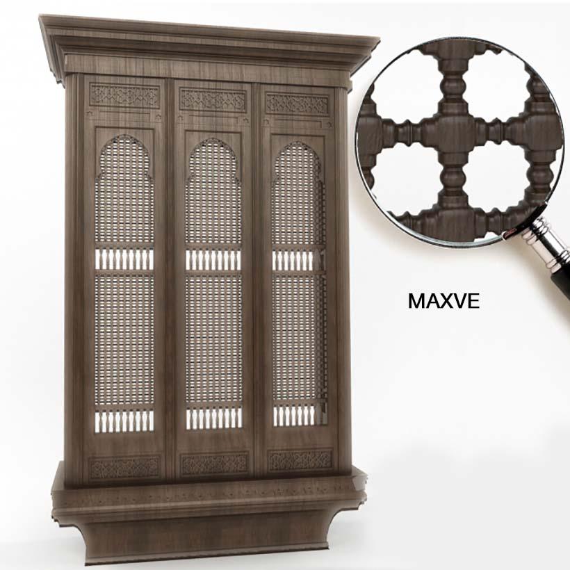 Mashrabiya 3dmodel Window Classic Arabic Dowload Model Free