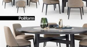 تحميل موديلات  538 Table & chair- طاولة-وكرسي Poliform Sophie  Home Hotel