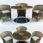 تحميل موديلات  541 Table & chair- طاولة-وكرسي Patio Wicker preview