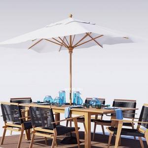تحميل موديلات  542 Table & chair- طاولة-وكرسي Outdoor furniture Palmer Rope