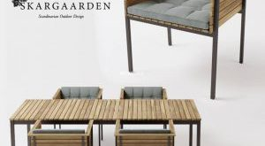 تحميل موديلات  555 Table & chair- طاولة-وكرسي Skargaarden Haringe arm +