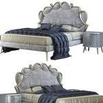 تحميل موديلات  555 CorteZari Letti Matrimoniali PAPILLON سرير bed corona and vray