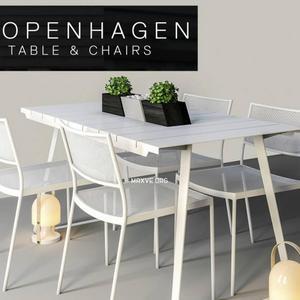 تحميل موديلات  556 Table & chair- طاولة-وكرسي copenhagen