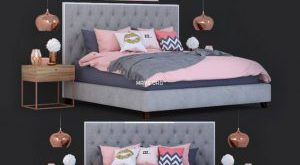 تحميل موديلات  560 Prague سرير bed  corona and vray
