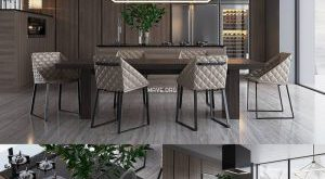 تحميل موديلات  564 Table & chair- طاولة-وكرسي PIET BOON SIGNATURE kitchen