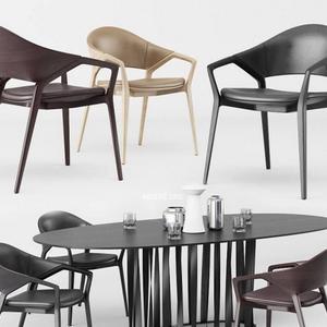 تحميل موديلات  565 Table & chair- طاولة-وكرسي Ico Cassina