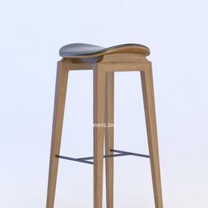 تحميل موديلات  523 NY11 Bar Chair_Walnut_Leather02 Chair كرسي