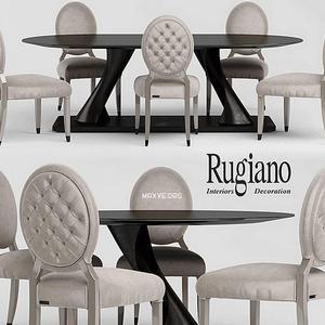 تحميل موديلات  252 Table & chair- طاولة-وكرسي rugiano Giotto