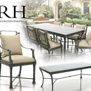 تحميل موديلات  253 Table & chair- طاولة-وكرسي RH Antibes Dining