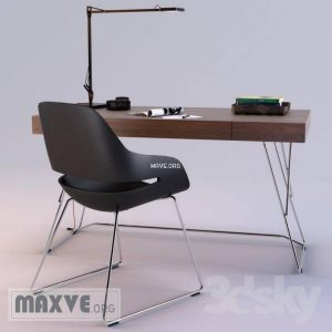 تحميل موديلات  257 Table & chair- طاولة-وكرسي zanotta maestrale