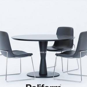 تحميل موديلات  258 Table & chair- طاولة-وكرسي Poliform Ventura