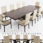 تحميل موديلات  270 Table & chair- طاولة-وكرسي Century DINING  DARK WOOD
