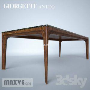 تحميل موديلات  274 Table & chair- طاولة-وكرسي Giorgetti anteo