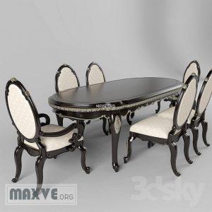 تحميل موديلات  275 Table & chair- طاولة-وكرسي FENDI CASA
