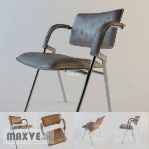 تحميل موديلات  609 Jacques Dumont Leather and Iron Chair_corona كرسي