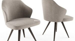 تحميل موديلات  616 minotti leslie dining aluminium base Chair كرسي
