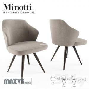 تحميل موديلات  616 minotti leslie dining aluminium base Chair كرسي