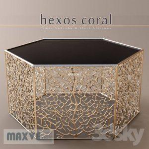 تحميل موديلات  281 Table & chair- طاولة-وكرسي Hexos Coral by Elvin Shirinov