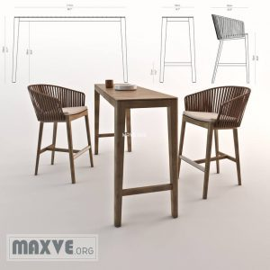 تحميل موديلات  881 Mood_bar_chair_&_table كرسي