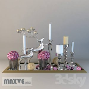 تحميل موديلات  224 Decorative set طقم ديكور