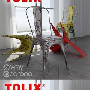 تحميل موديلات  631 Tolix A Chair كرسي