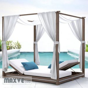 تحميل موديلات  244 MALTA CANOPY DOUBLE CHAISE