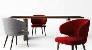 تحميل موديلات  283 Table & chair- طاولة-وكرسي Minottii  and