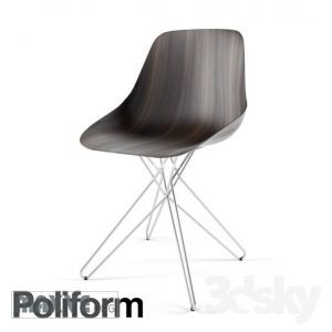 تحميل موديلات  641 Poliform Harmony steel Chair كرسي