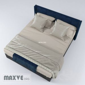 تحميل موديلات  254 سرير bed with linen