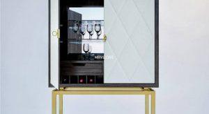 تحميل موديلات  205 خزانة-ذات-أدراج Bernhardt Jet Set Bar Cabinet