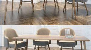تحميل موديلات  290 Table & chair- طاولة-وكرسي dining