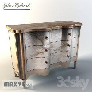 تحميل موديلات  208 خزانة-ذات-أدراج John Richard Portobello Serpentine Chest Model