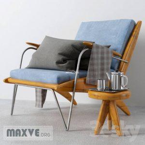تحميل موديلات  652 Carved Walnut Lounge Chair كرسي