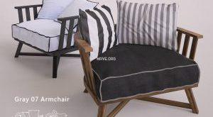 تحميل موديلات  661 Gervasoni_Gray Chair كرسي
