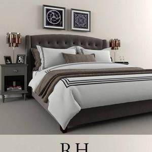 تحميل موديلات  266 restoration hardware2 سرير bed