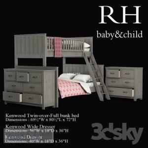 تحميل موديلات  267 Twin-Over-Full Bunk سرير bed with Ladder