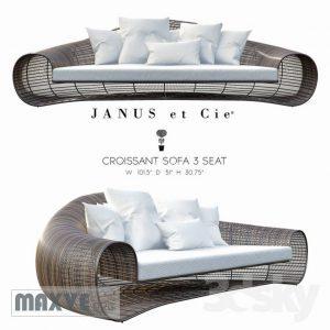 166 تحميل موديلات كنب Janus et Cie   CROISSANT  3 SEAT