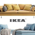 182 IKEA كنب IKEA SÖDERHAMN 3 seater  and a daybed