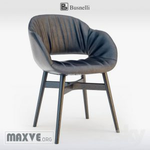 تحميل موديلات  681 Busnelli charme chair wood dark Chair كرسي