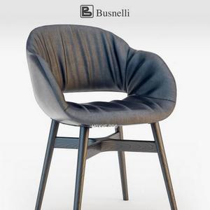 تحميل موديلات  681 Busnelli charme chair wood dark Chair كرسي