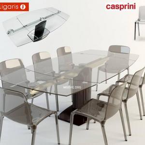 تحميل موديلات  311 Table & chair- طاولة-وكرسي Stolstul casprini calligaris