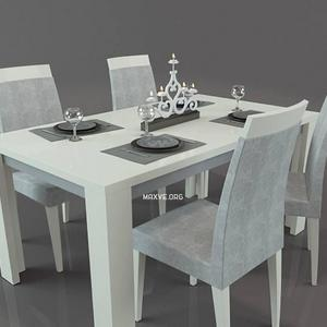 تحميل موديلات  313 Table & chair- طاولة-وكرسي Perfecta Diamond Ivory   StatuS