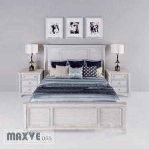تحميل موديلات  274 Greensburg King Panel سرير bed