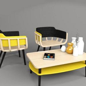 تحميل موديلات  317 Table & chair- طاولة-وكرسي The Frame arm