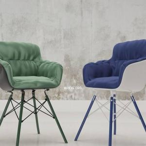 تحميل موديلات  693 Flow Armchair Textile MDF Italia  Chair كرسي