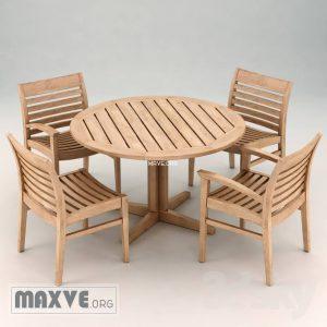 تحميل موديلات  318 Table & chair- طاولة-وكرسي wellspring