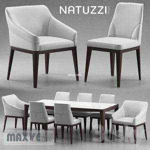 تحميل موديلات  319 Table & chair- طاولة-وكرسي Natuzzi italia
