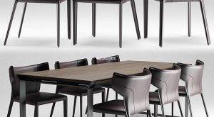 تحميل موديلات  320 Table & chair- طاولة-وكرسي Natuzzi italia