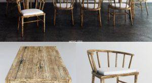 تحميل موديلات  321 Table & chair- طاولة-وكرسي wood dining  ethnic