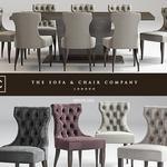تحميل موديلات  325 Table & chair- طاولة-وكرسي Guinea dining  Langham